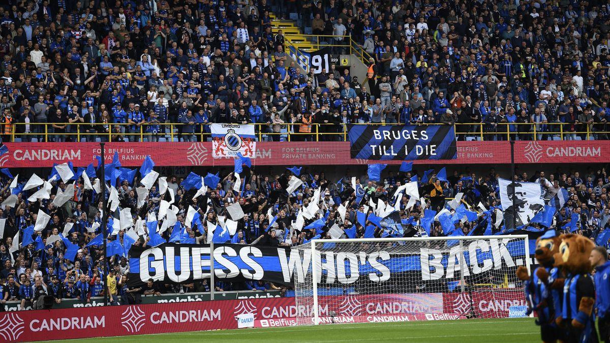 Les supporters du Club Bruges