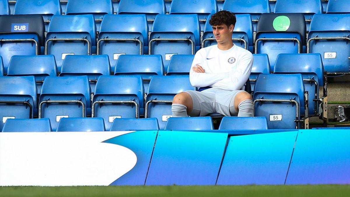 Kepa Arrizabalaga a fost spectator la cele mai importante meciuri ale lui Chelsea
