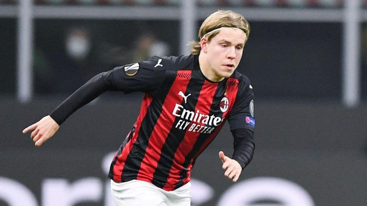 Jens Petter Hauge, Milan 2020-2021 (Getty Images)