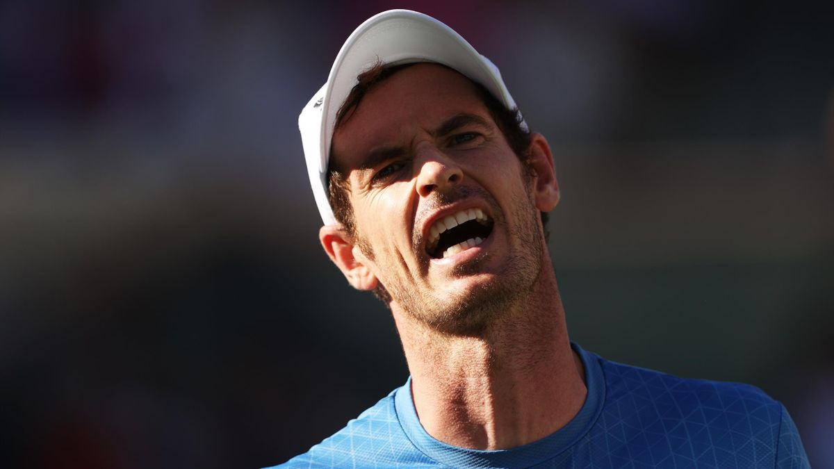 Andy Murray shows frustration at Indian Wells