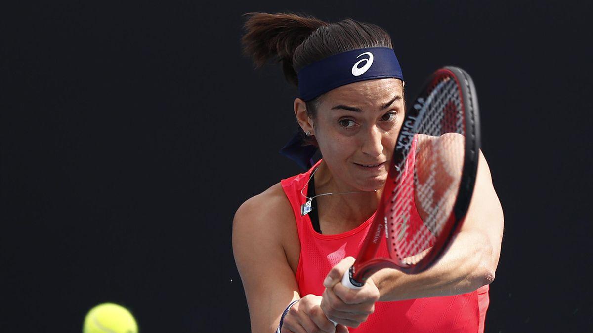 Caroline Garcia lors de l'Open d'Australie 2020
