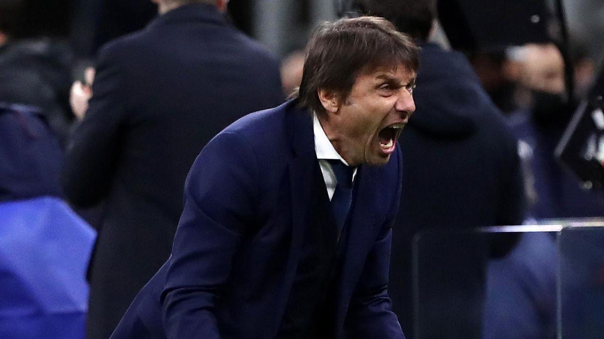 La rabbiosa esultanza di Antonio Conte, Inter-Sassuolo, Serie A 2020-21, Getty Images