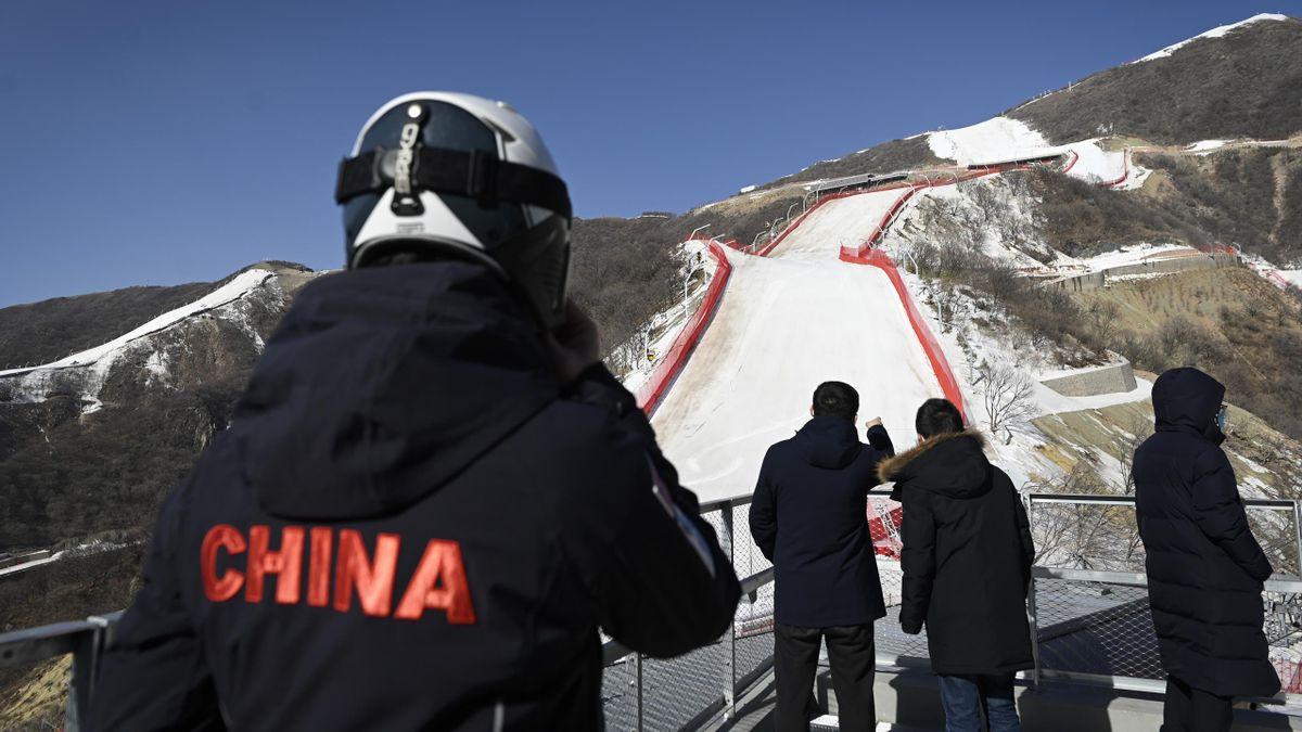 Pékin présente ses pistes de ski alpin pour les JO 2022.