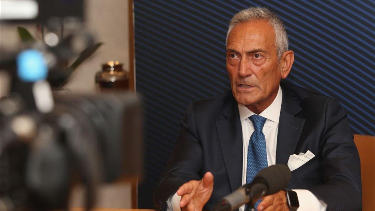 Il presidente della FIGC Gabriele Gravina