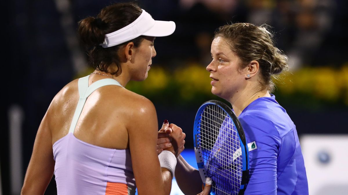 Kim Clijsters vs Garbiñe Muguruza - Dubai Masters - Getty Images