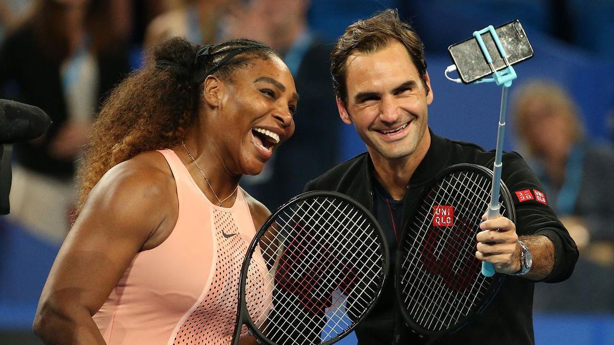 Serena Williams und Roger Federer