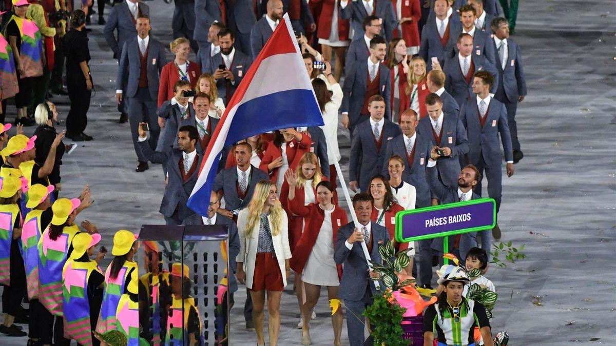 Nederland op de openingsceremonie van Rio 2016