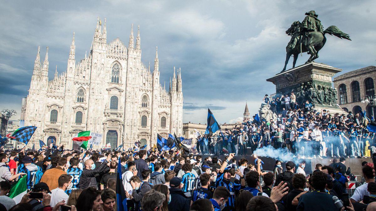 Hier feierten die Inter-Fans noch den 19. Meistertitel
