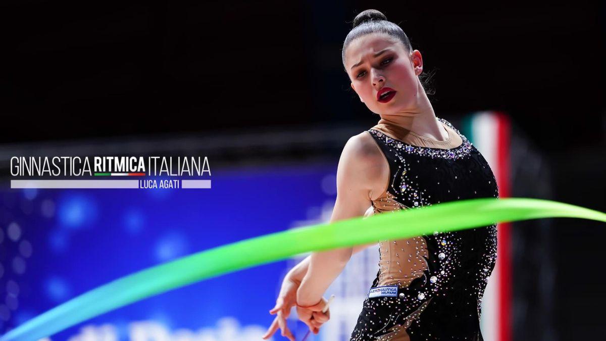 Milena Baldassarri impegnata nella tappa del Campionato Nazionale di Serie A a Desio