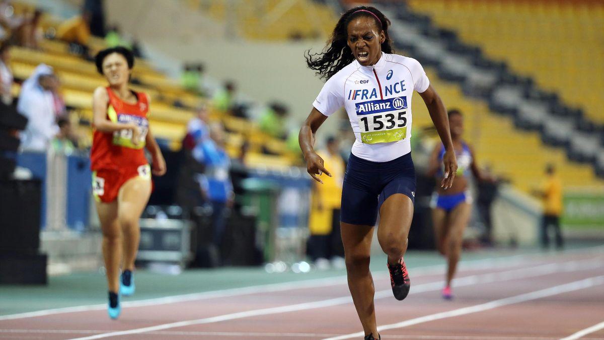 Mandy François-Elie lors du 400m des Mondiaux d'athlétisme IPC 2015