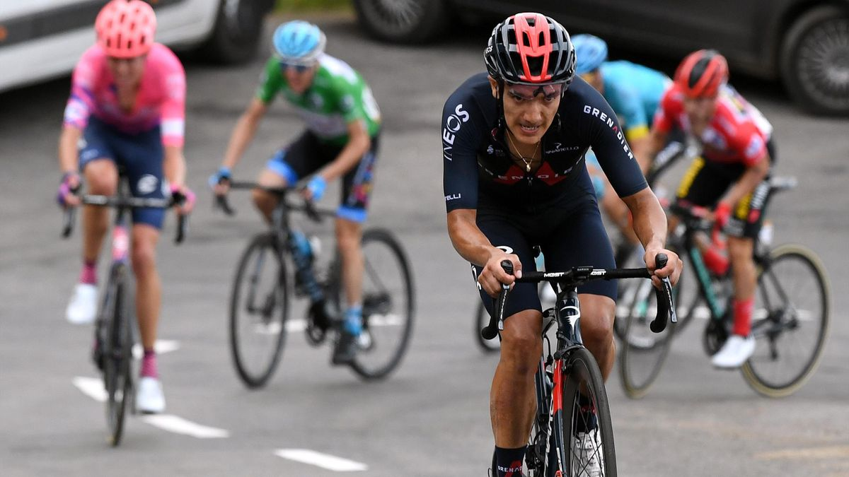 Richard Carapaz of Ecuador and Team INEOS - Grenadiers / Breakaway / during the 75th Tour of Spain 2020, Stage 12 a 109,4km stage from Pola de Laviana to Alto de l'Angliru 1560m / @lavuelta / #LaVuelta20 / La Vuelta