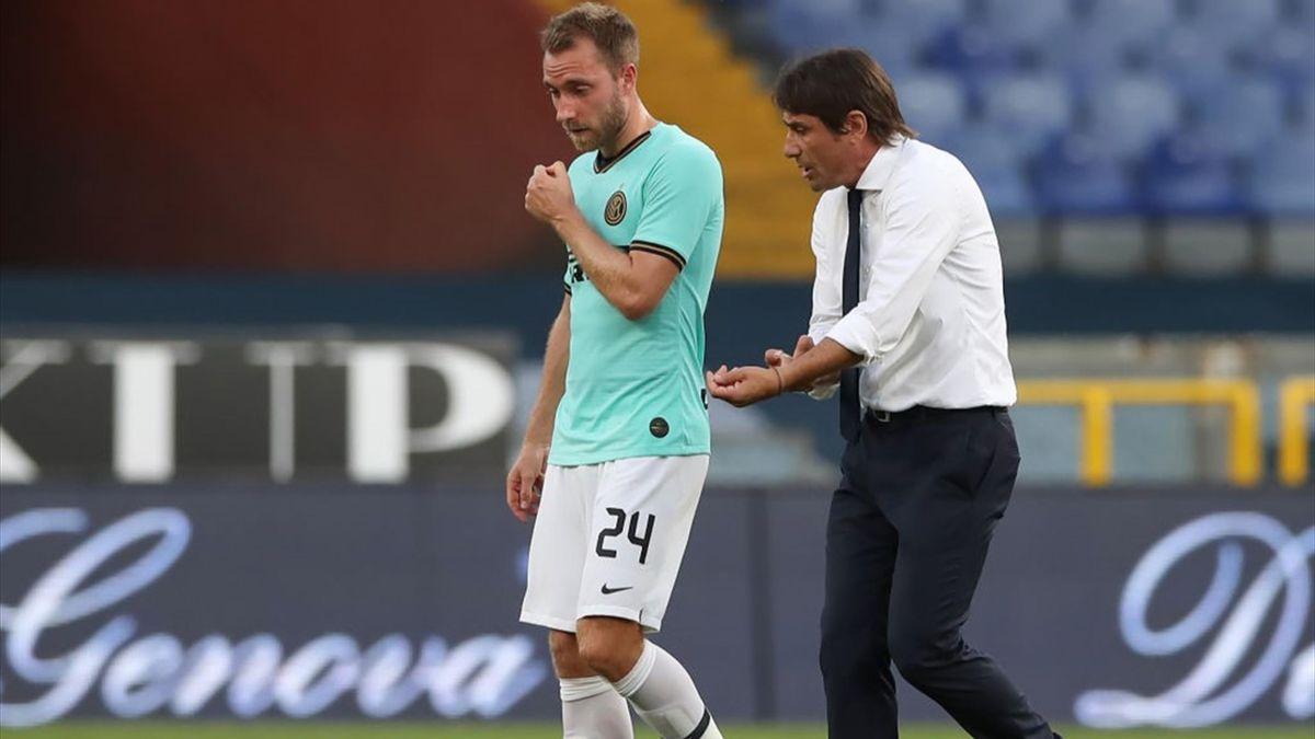Antonio Conte, Christian Eriksen - Genoa-Inter - Serie A 2019/2020 - Getty Images