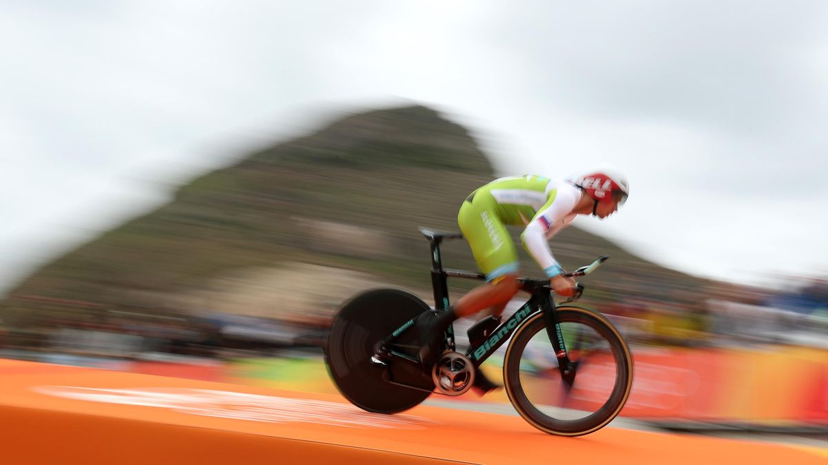 Slovenia's Primoz Roglic claimed the overall lead of the Tour of the Basque Country after victory in the time trial (David Davies/PA)