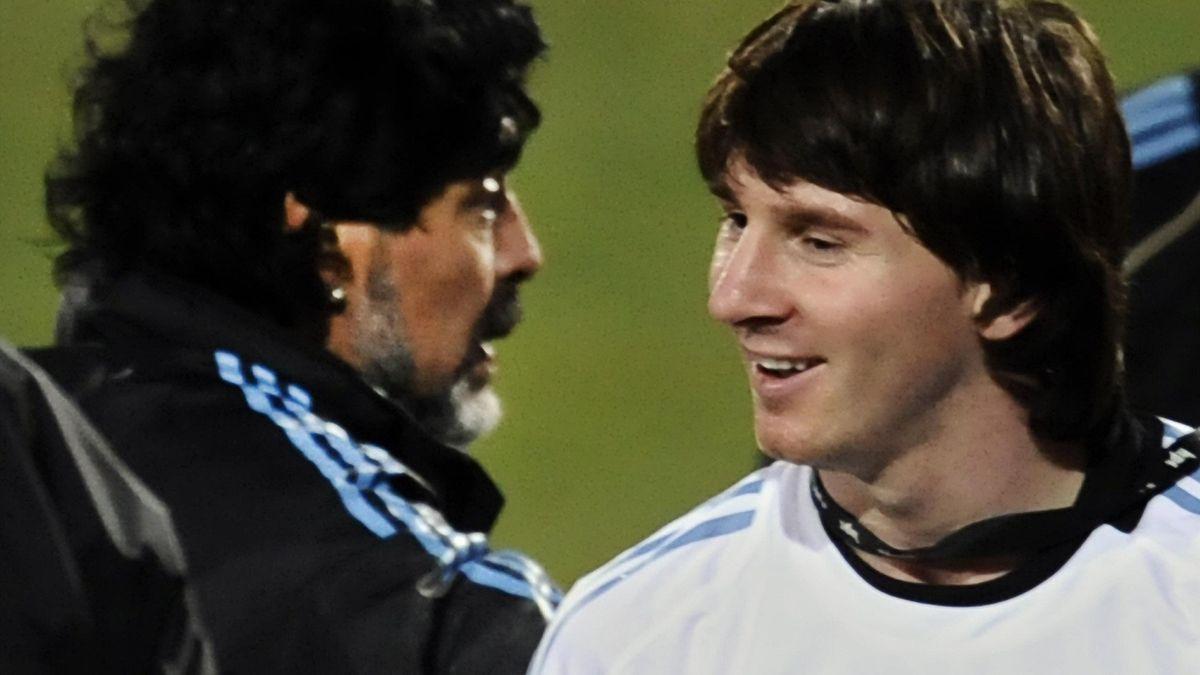 Leo Messi & Diego Maradona