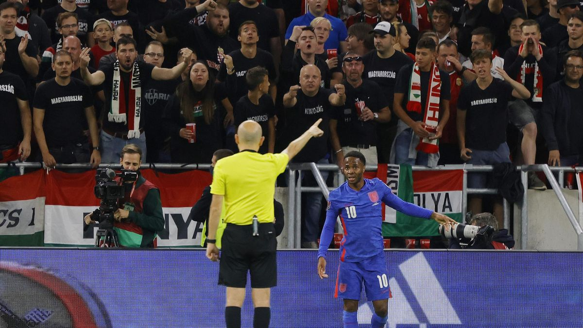 Sterling was targetted by Hungary fans