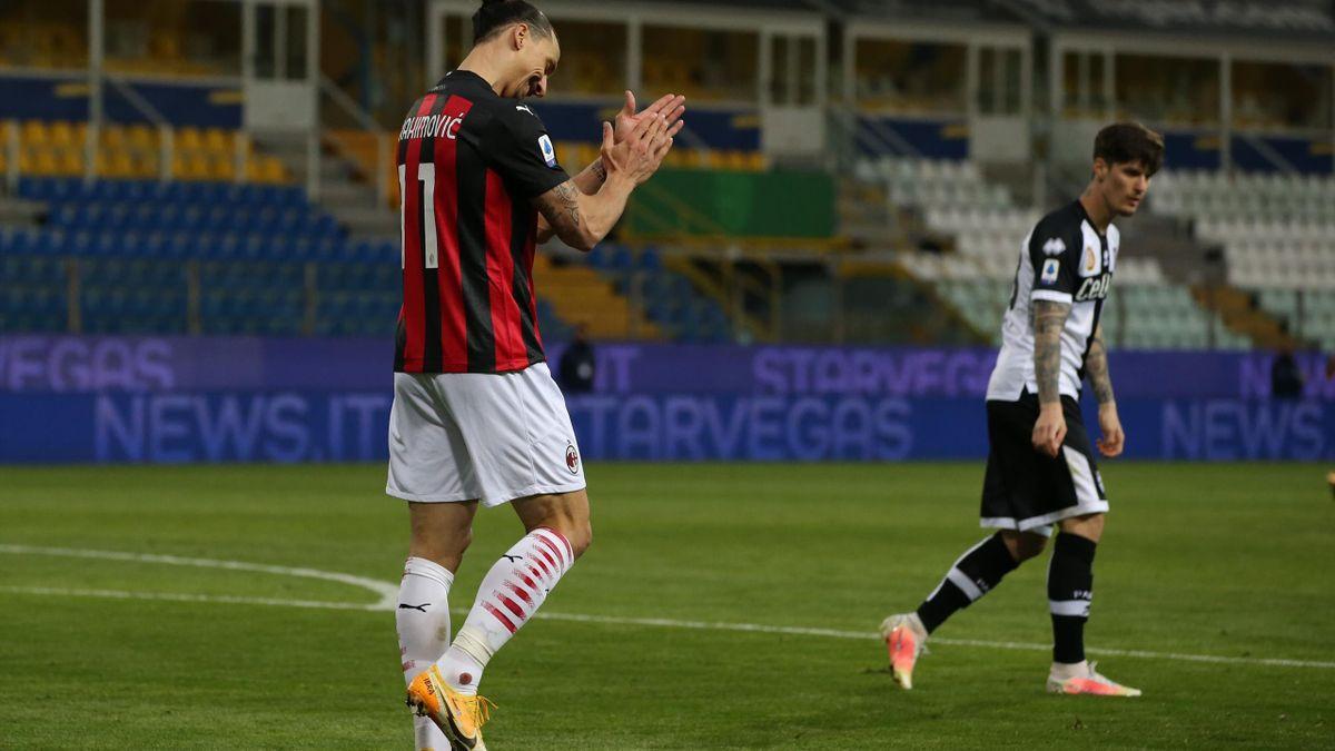 Man și Ibrahimovic, în Parma - Milan 1-3