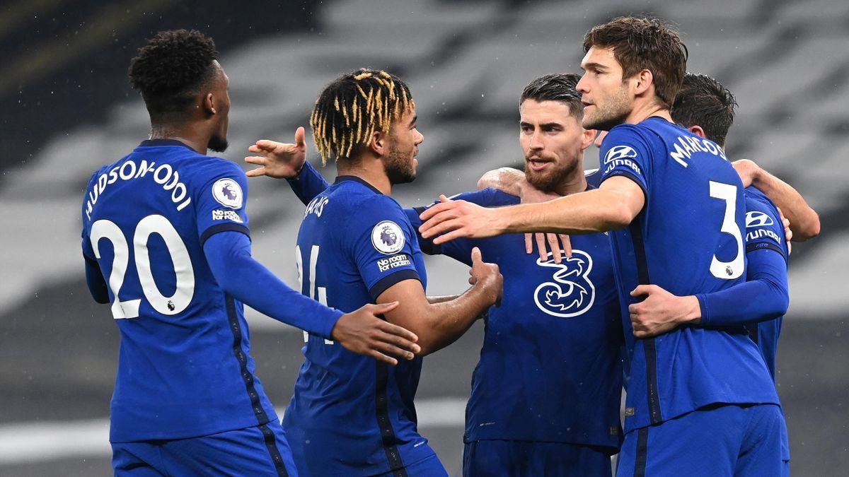 Der FC Chelsea jubelt über den Sieg bei Tottenham Hotspur
