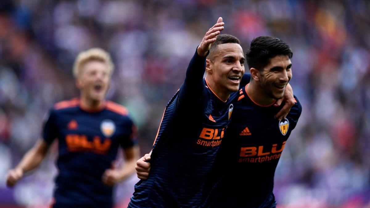 Rodrigo Moreno und Carlos Soler (v.l.) treffen für Valencia