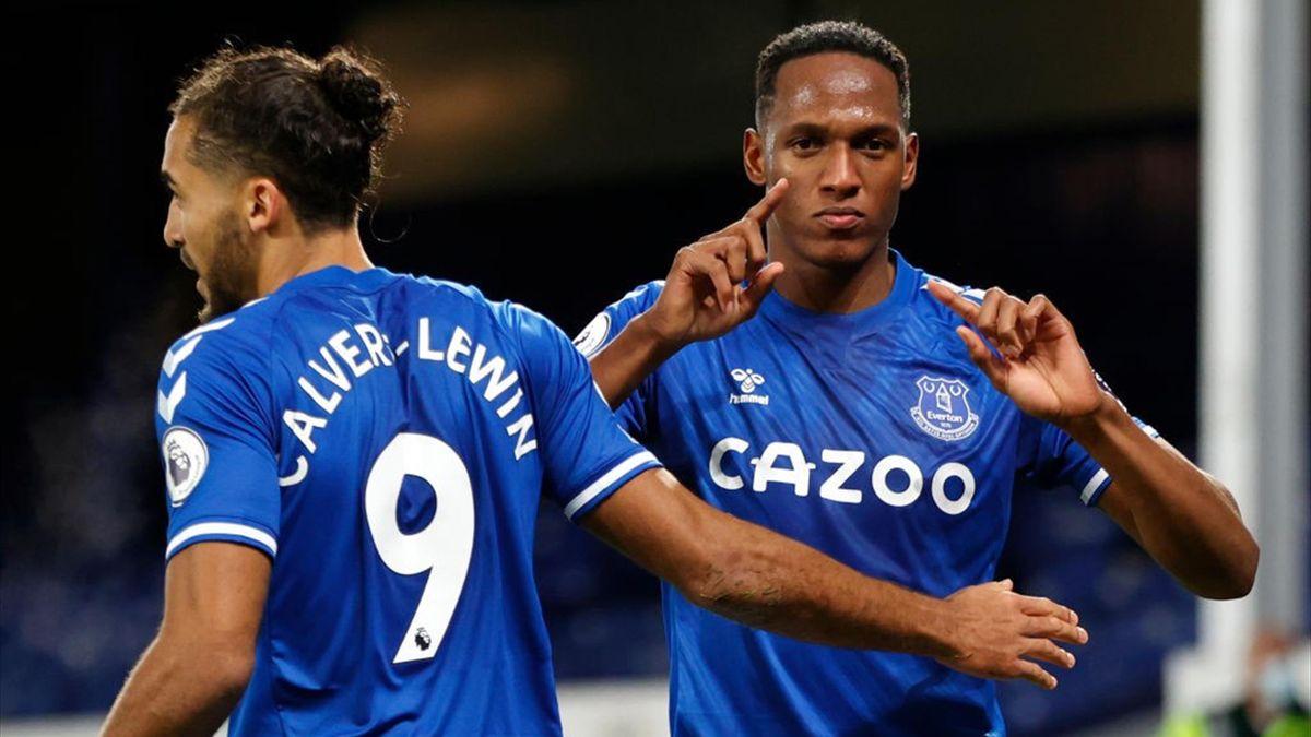 Calvert-Lewin, Yerry Mina - Everton-Arsenal - Premier League 2020/2021 - Getty Images