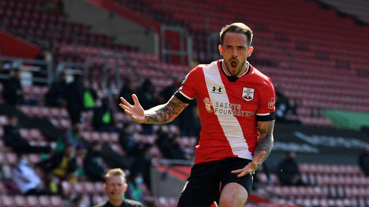 Southampton's English striker Danny Ings celebrates