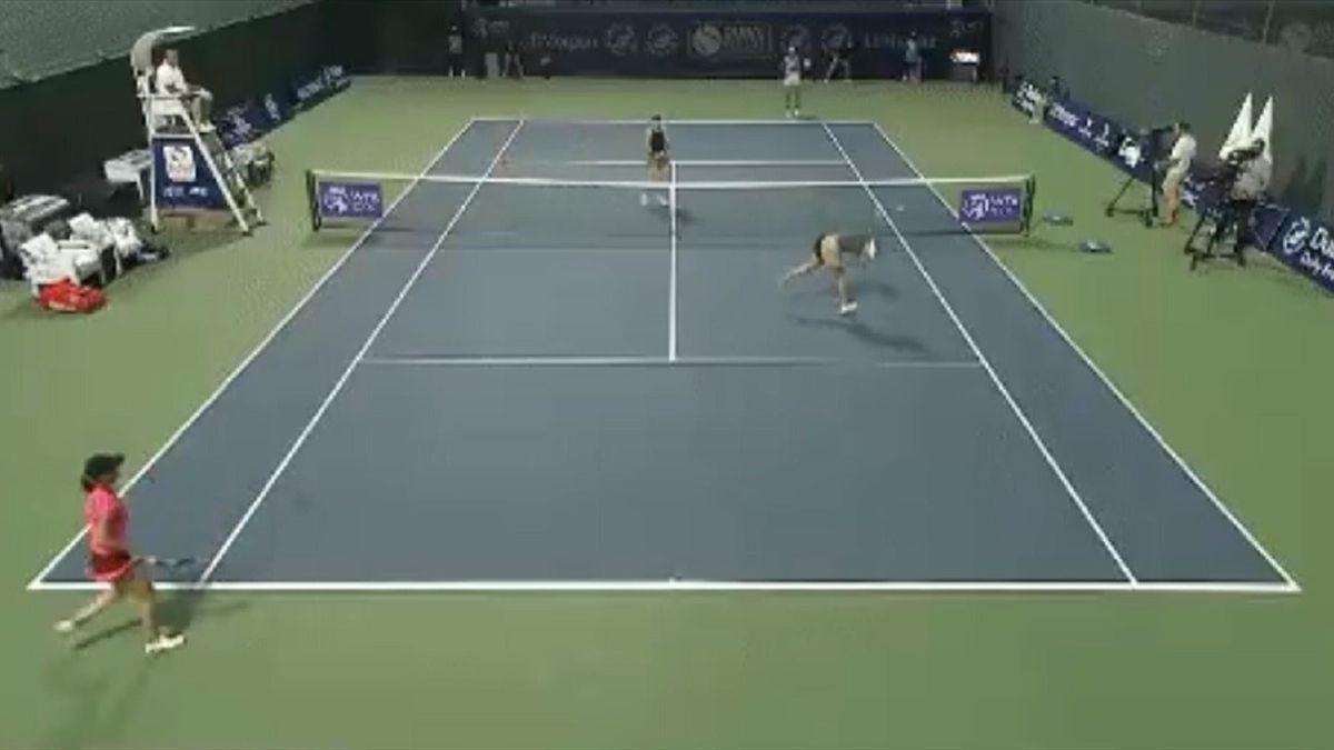 Анастасия Потапова, удар мячом в глаз, WTA Dubai