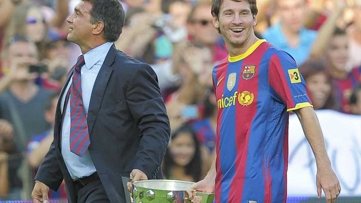 Lionel Messi și Joan Laporta
