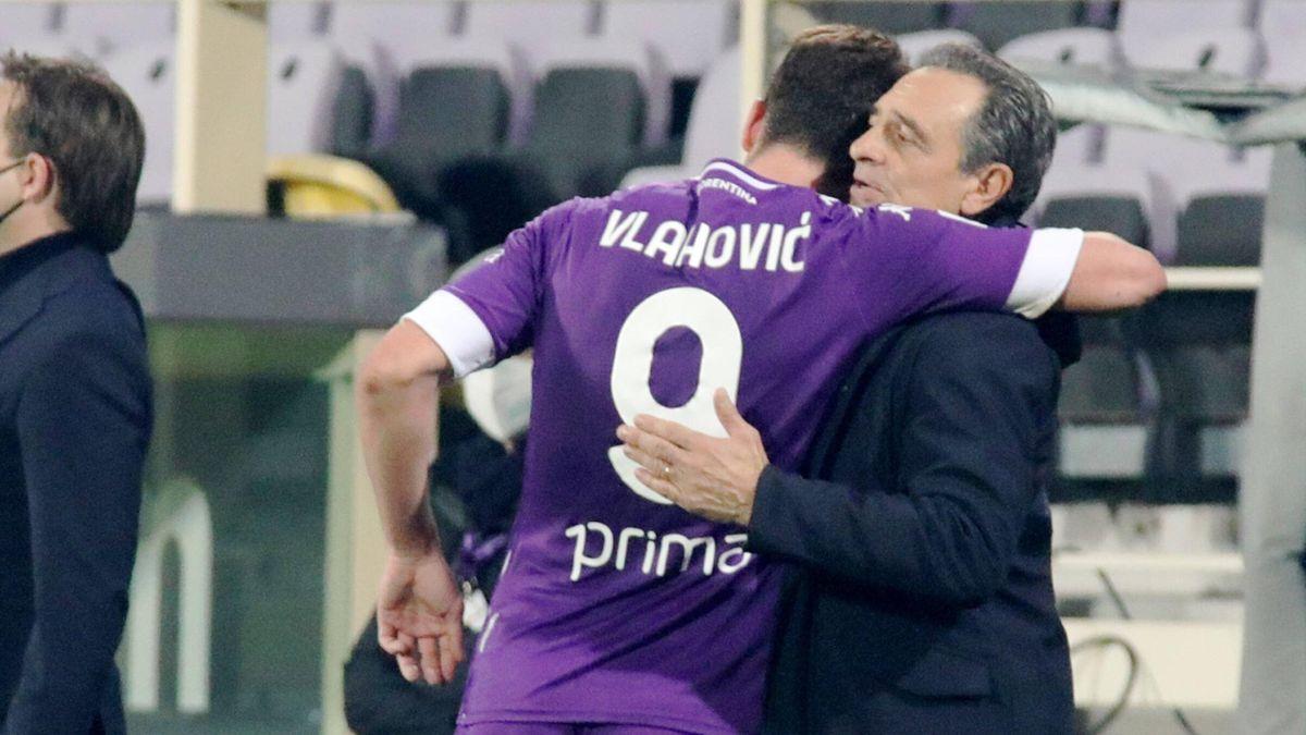 Vlahovic, Prandelli - Fiorentina-Sassuolo - Serie A 2020/2021 - Imago pub only in ITAxGERxSUIxAUT