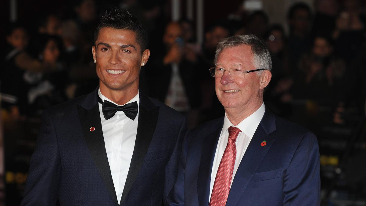 Cristiano Ronaldo mit Sir Alex Ferguson