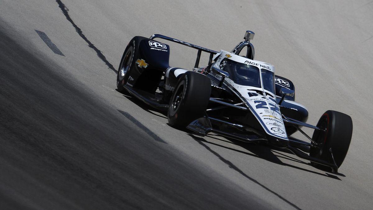Simon Pagenaud (Team Penske) lors du GP de Forth Worth, le 6 juin 2020