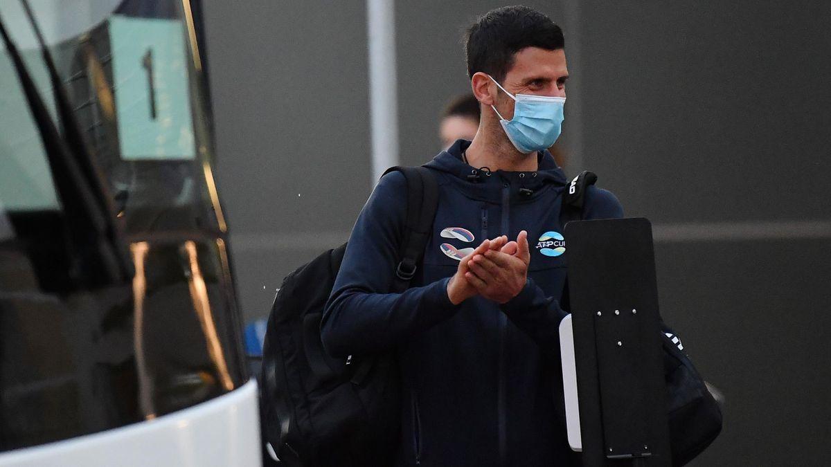 Novak Djokovic, la sosirea în Australia