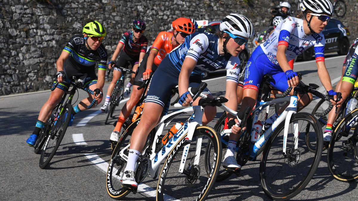 Elisa Longo Borghini of Italy and Team Trek- Segafredo / during the 44th Trofeo Alfredo Binda-Comune di Cittiglio 2019, Women a 131,1km race from Taino to Cittiglio / @TrofeoBinda / on March 24, 2019 in Cittiglio, Italy