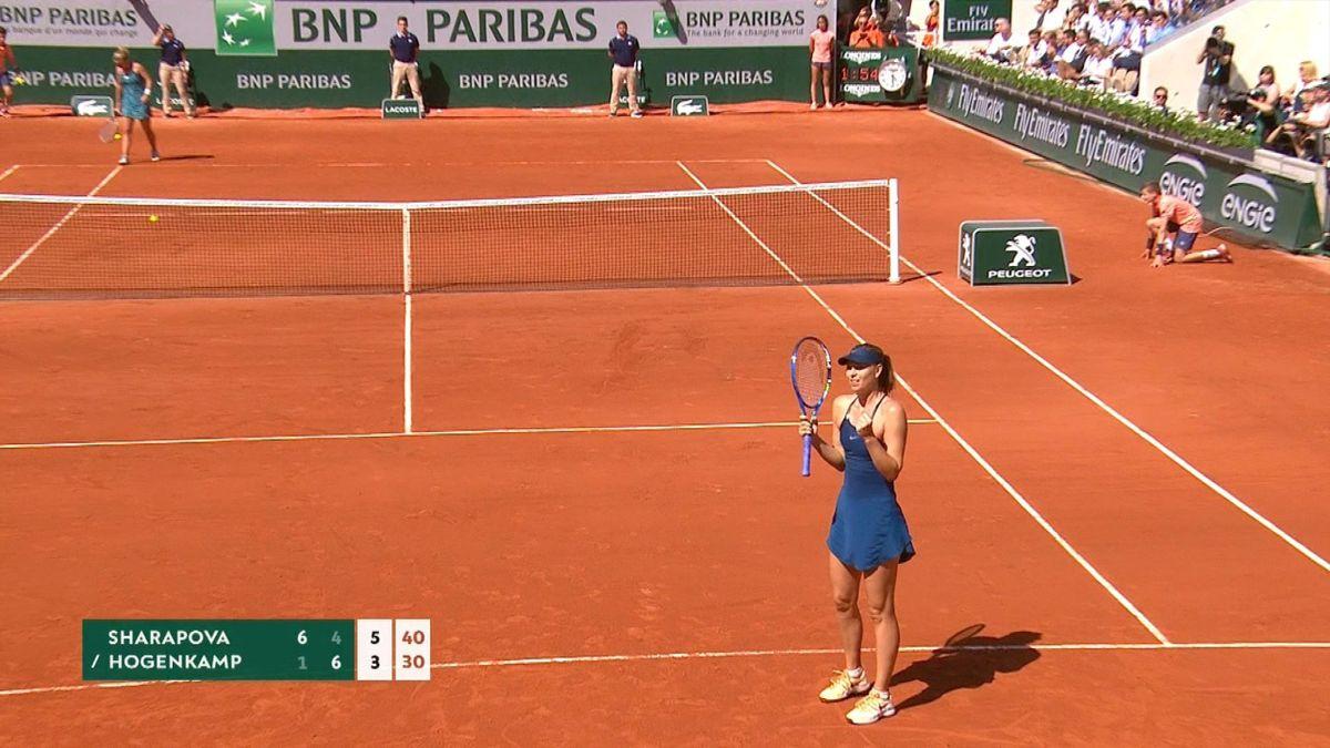French Open - highlights - Sharapova vs Hogenkamp