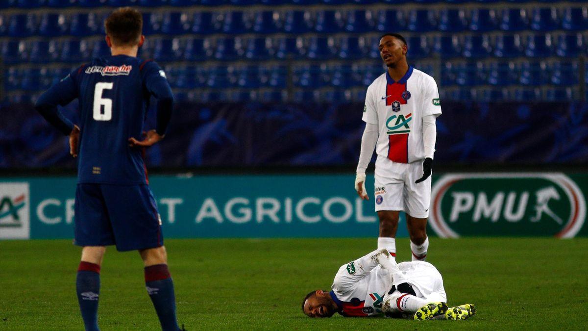 Neymar (Paris Saint-Germain) face à Caen