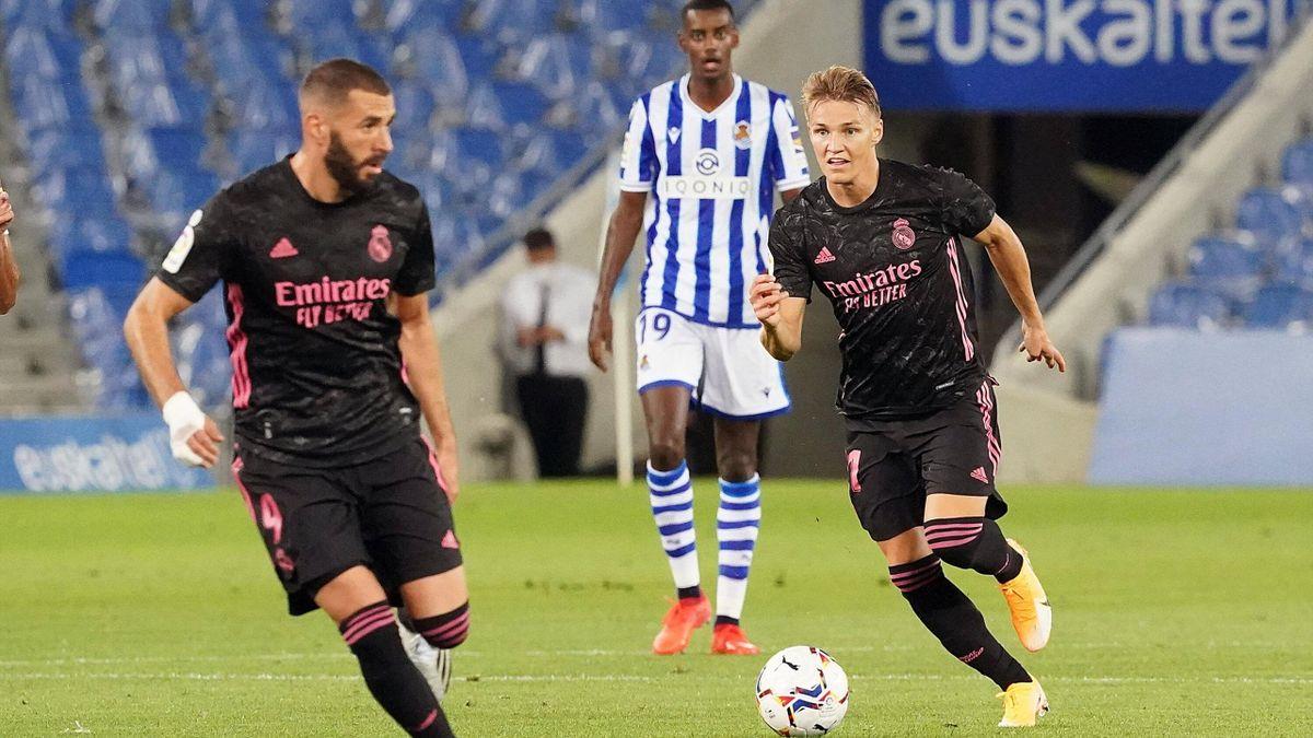Reals Martin Ödegaard (rechts) ist beim FC Arsenal auf dem Radar