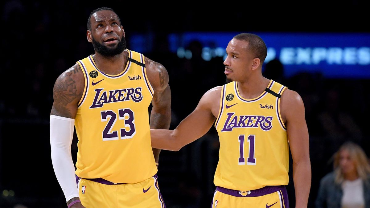 LeBron James et Avery Bradley (Los Angeles Lakers)