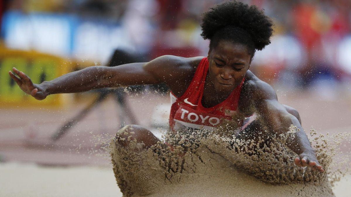 Tianna Bartoletta, championne du monde du saut en longueur
