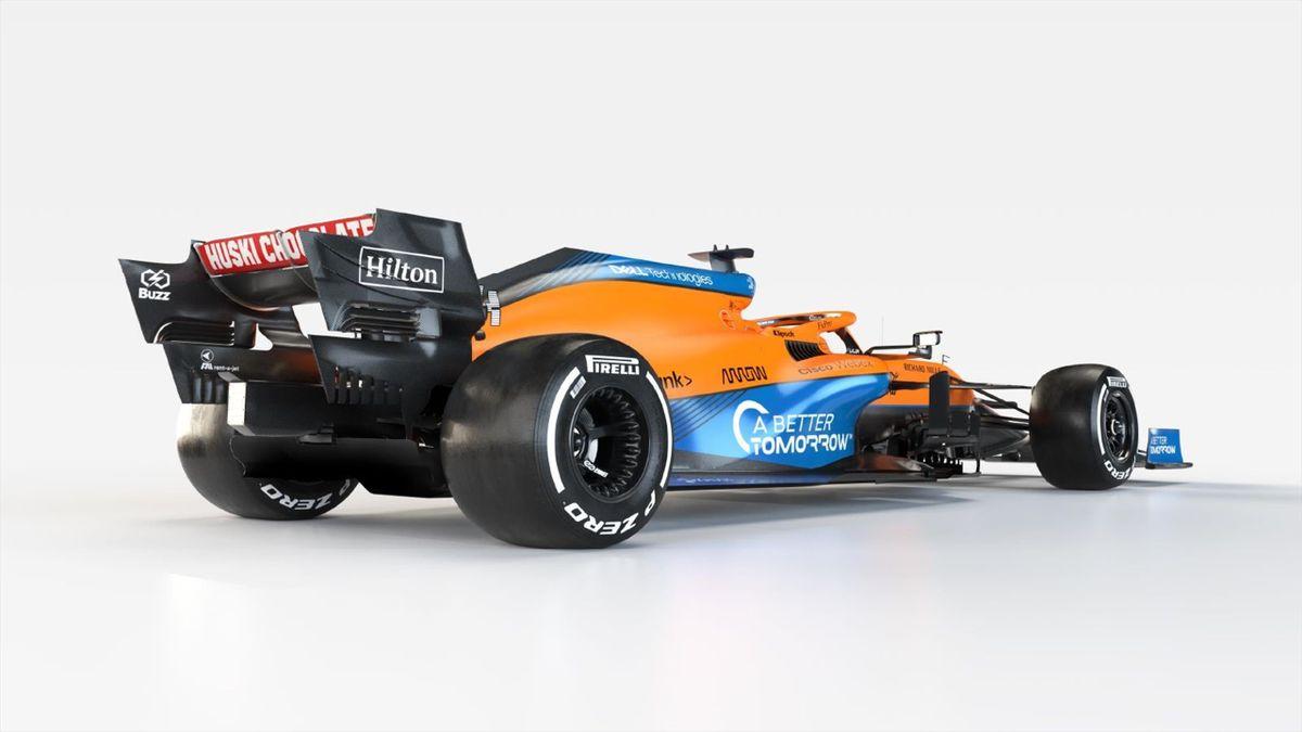 La McLaren MCL35, la livrée que piloteront Daniel Ricciardo et Lando Norris lors de la saison 2021