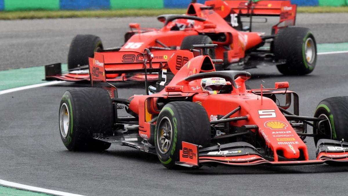 Sebastian Vettel und Charles Leclerc beim Großen Preis von Ungarn 2020