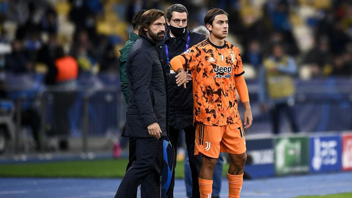 Andrea Pirlo insieme a Paulo Dybala: contro il Verona per La Joya dovrebbe esserci la prima chance dal primo minuto, Getty Images