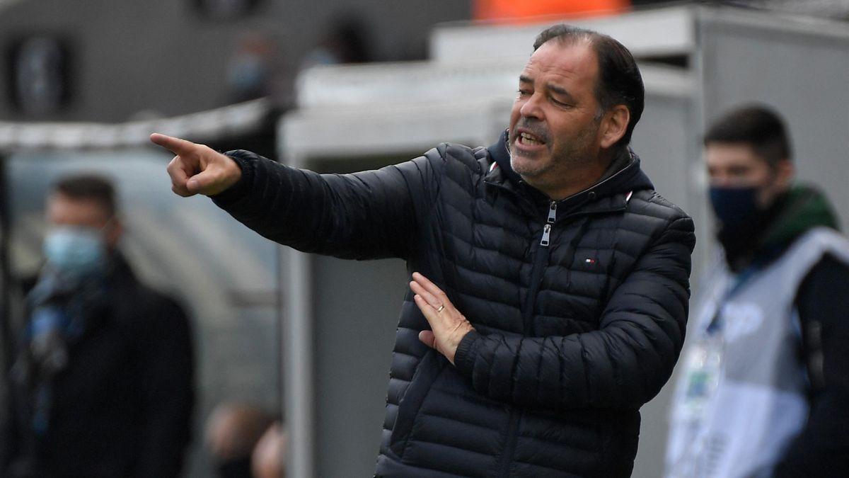 Stéphane Moulin (Angers) face à Rennes - Ligue 1 2020-21