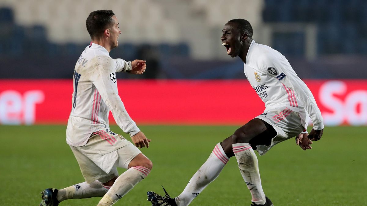 Ferland Mendy (rechts) erzielte den Siegtreffer für Real Madrid bei Atalanta Bergamo
