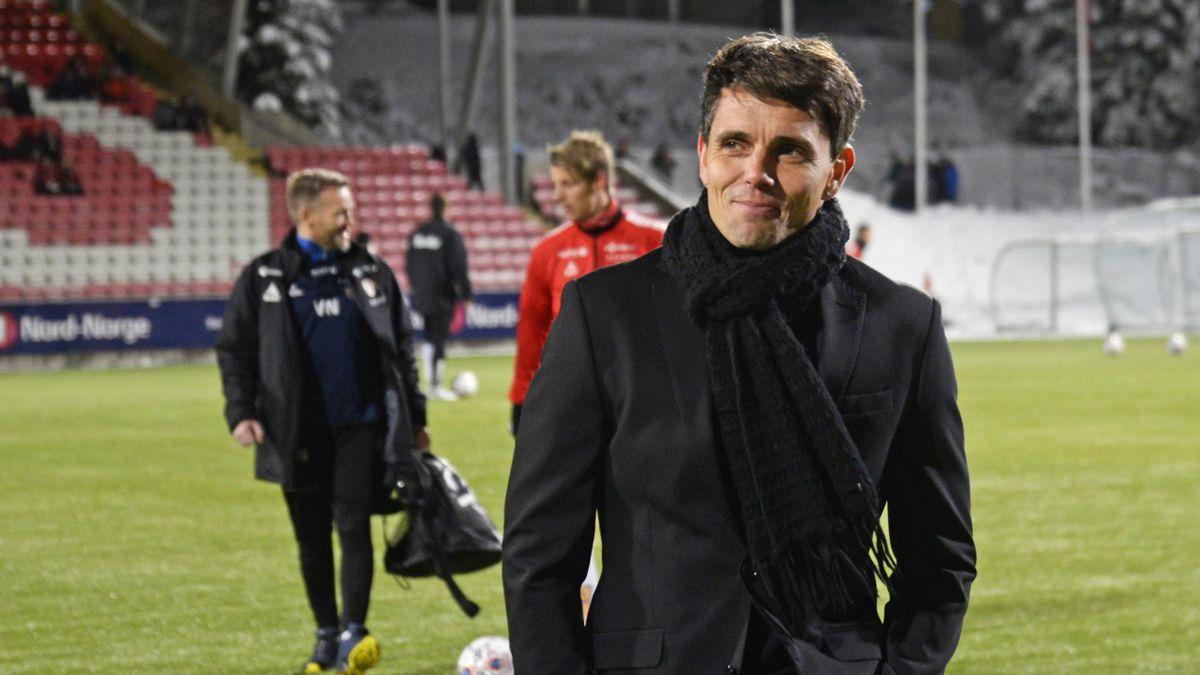 Tromsøs trener Simo Valakari før kampen TIL-Viking på Alfheim stadion.