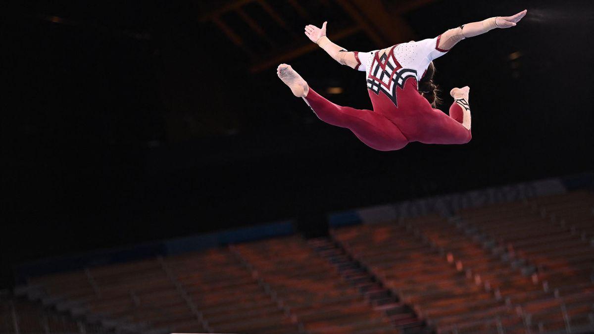 Pauline Schafer a levegőben