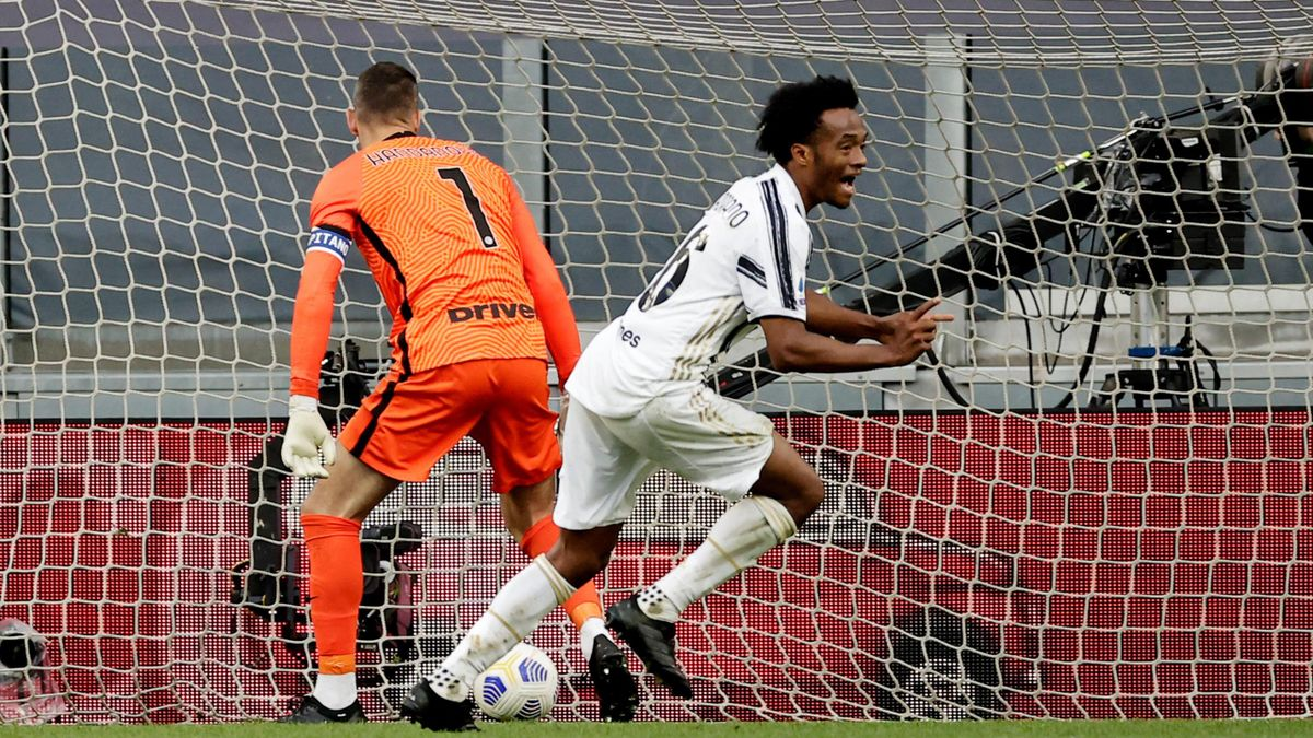 Cuadrado batte Handanovic, Juventus-Inter, Getty Images