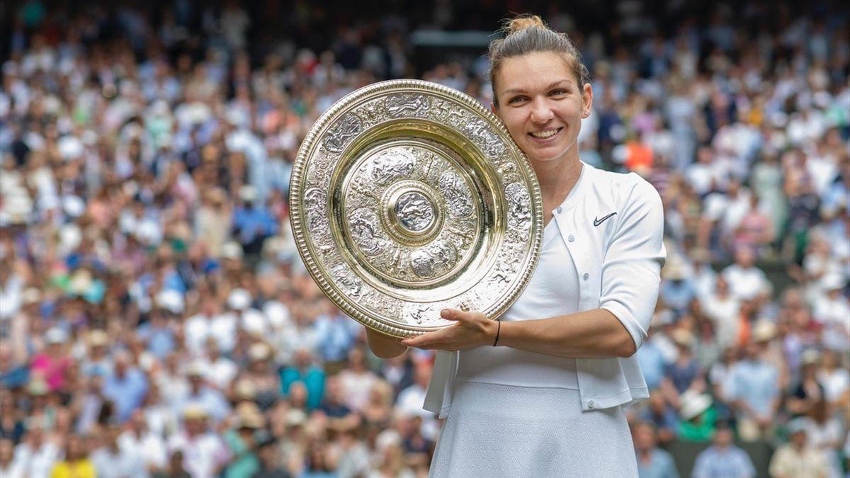Simona Halep na het winnen van Wimbledon 2019