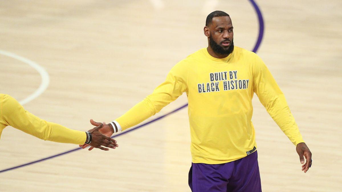 LeBron James spielt bei den Los Angeles Lakers