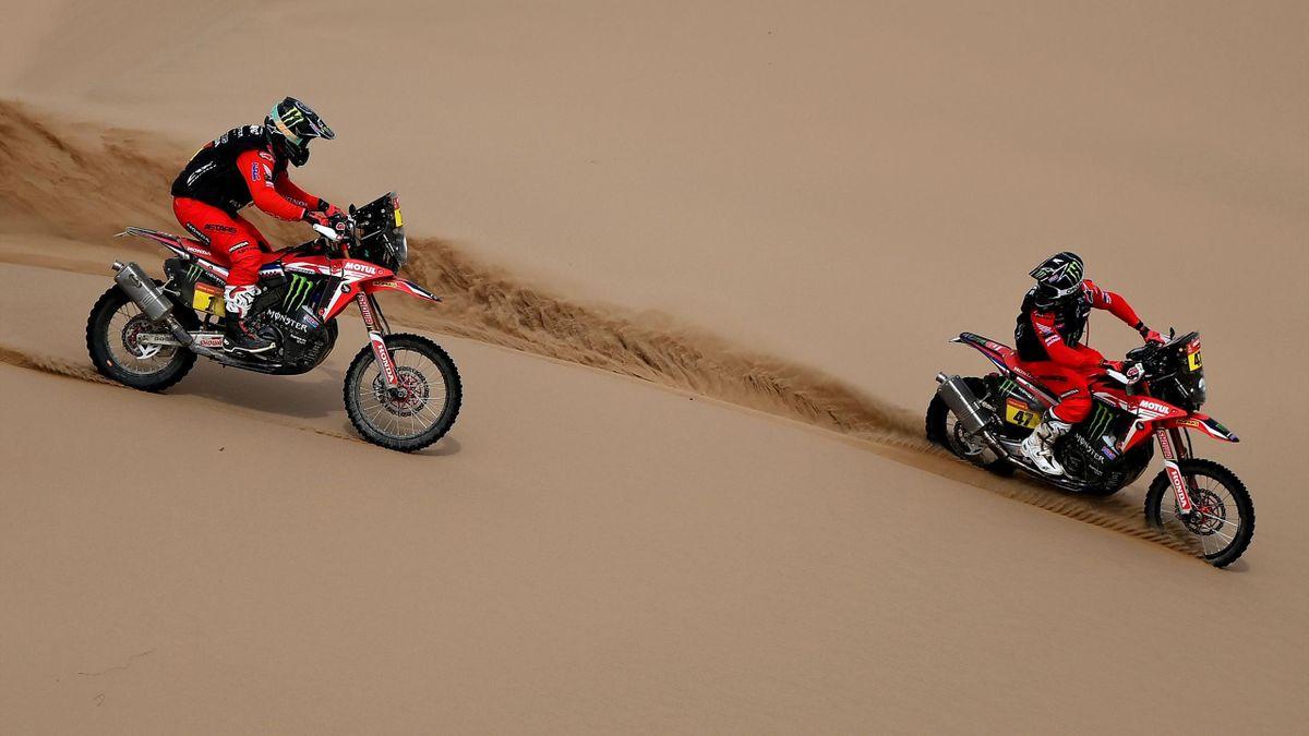 Kevin Benavides (rechts) und Ricky Brabec - Rallye Dakar