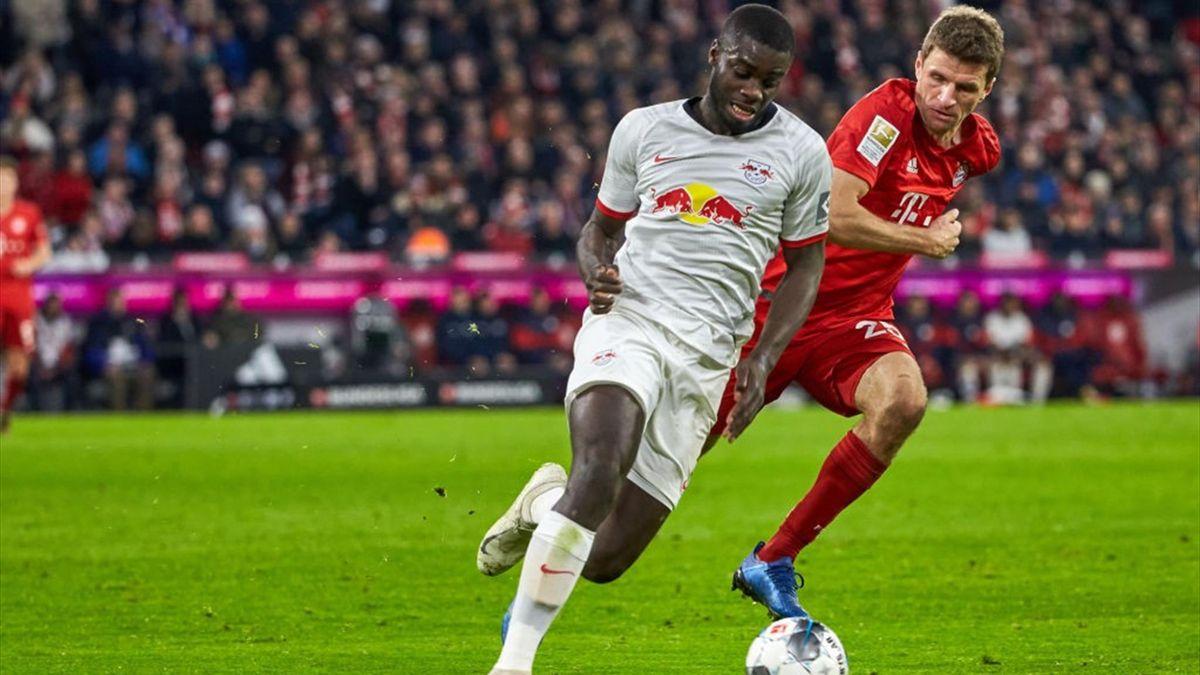 Upamecano, Müller - Bayern Monaco-RB Lipsia - Bundesliga 2020/2021 - Getty Images