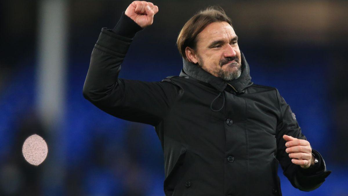 Norwich-Trainer Daniel Farke jubelt
