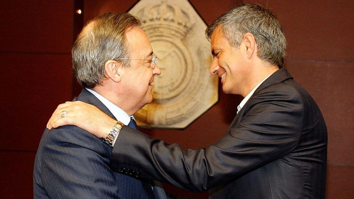 Florentino Pérez și Jose Mourinho